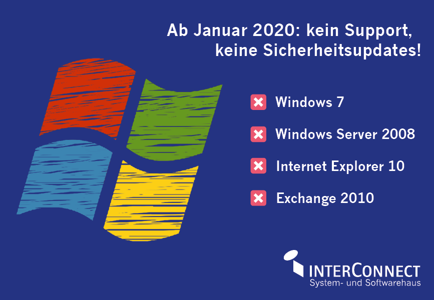 Visualisierung: End of Support bei Microsoft